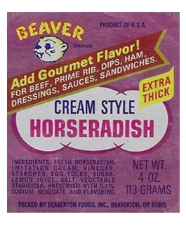First Cream Style Horseradish label