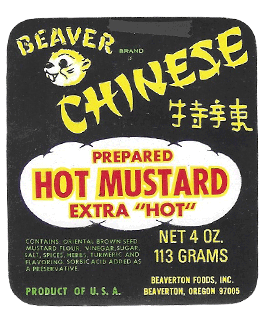 First Chinese Hot Mustard label