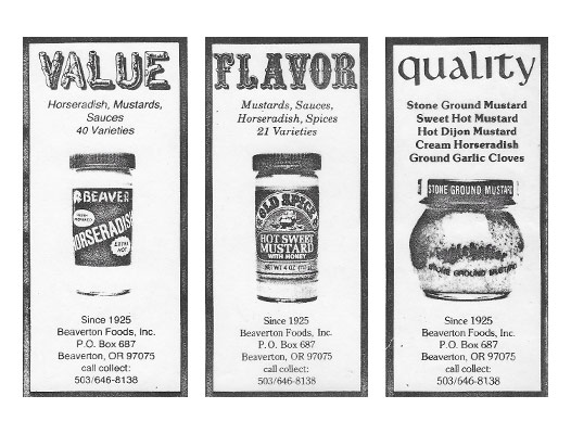 Old advertisement for Beaver Brand and Inglehoffer