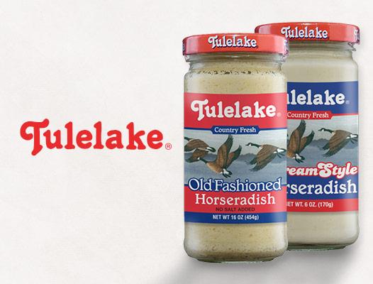 Tulelake horseradish products and logo