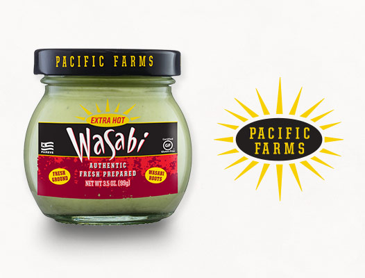 Pacific Farms Authentic Wasabi product and logo