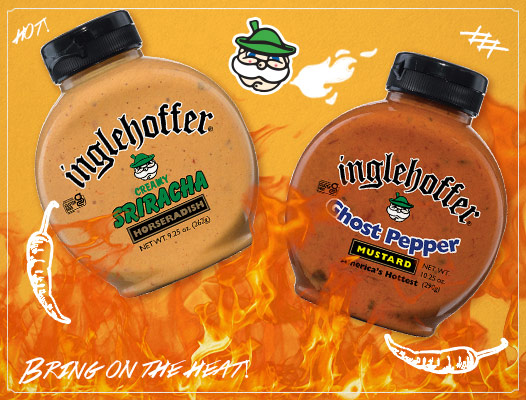 Inglehoffer Sriracha Horseradish and Ghost Pepper Mustard products
