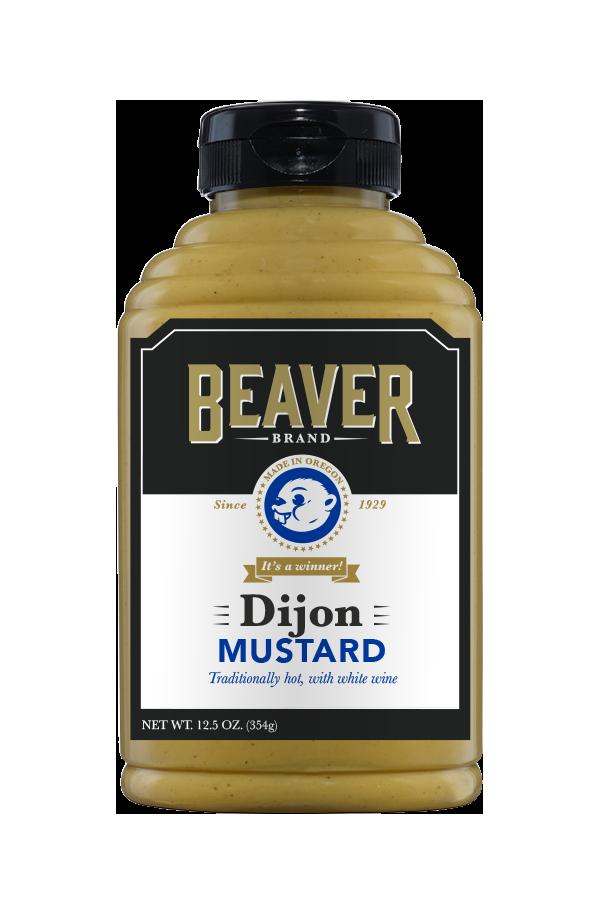 Beaver Brand Dijon Mustard front 12.5oz
