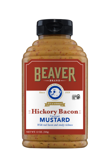 Beaver Brand Hickory Bacon Mustard front 12oz