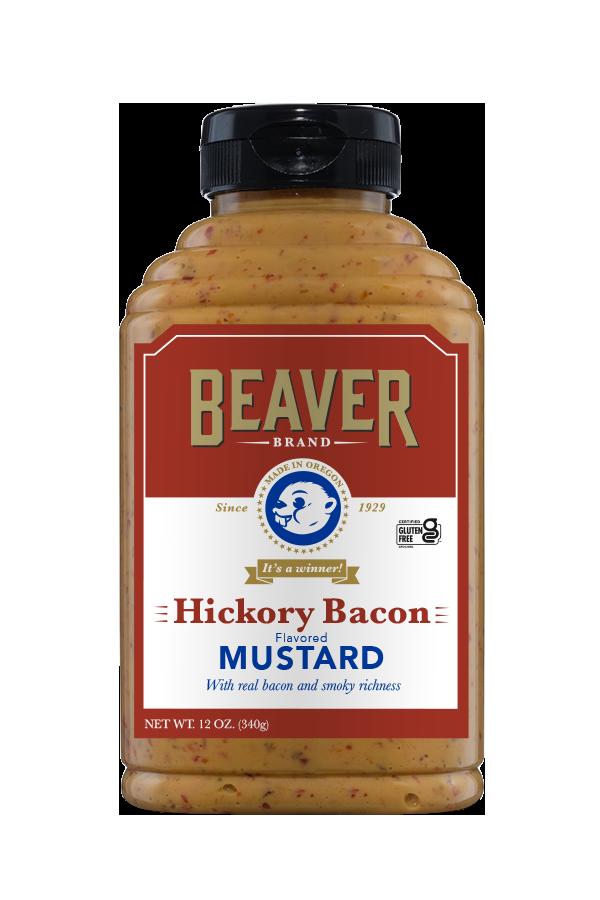 Beaver Brand Hickory Bacon Mustard front 12oz