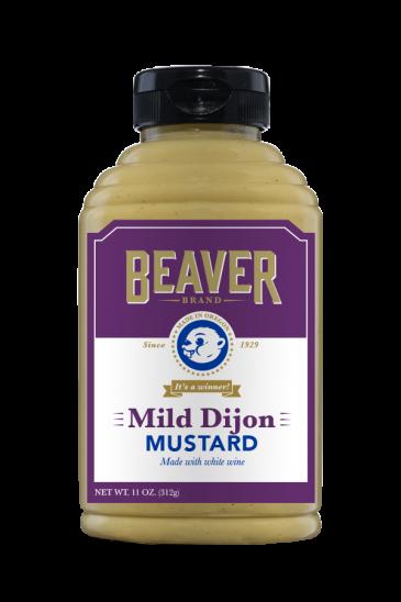 Beaver Brand Mild Dijon Mustard front 11oz