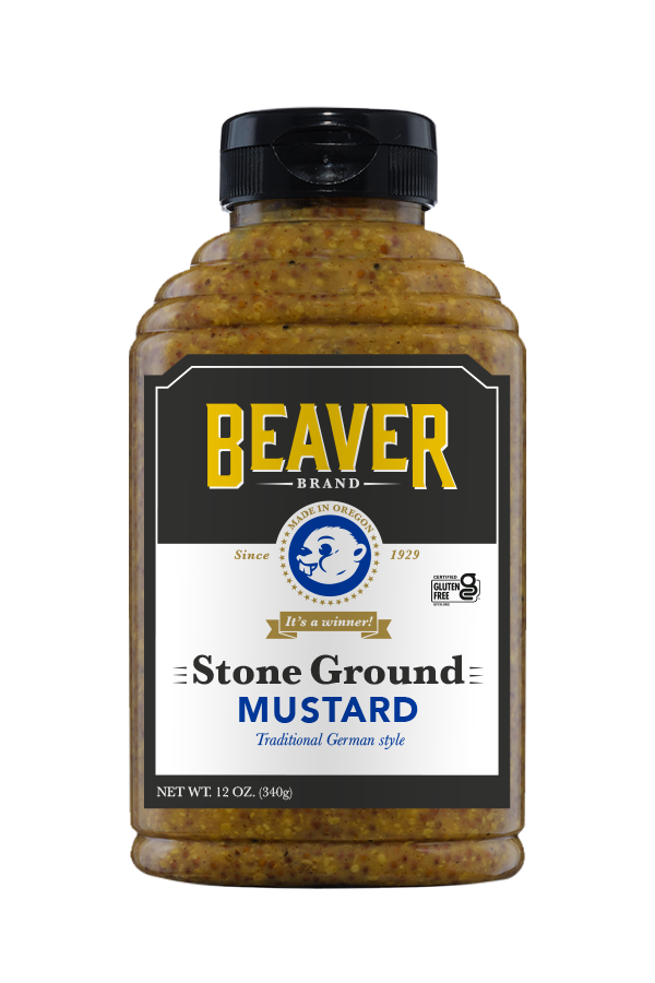 Beaver Brand Stone Ground Mustard front 12oz