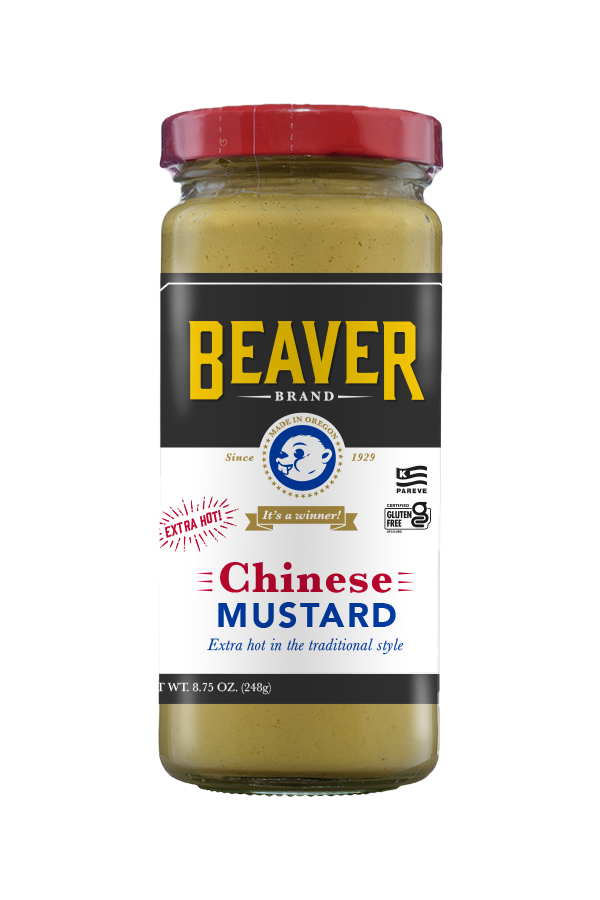 Beaver Brand Chinese Mustard front 8.75oz