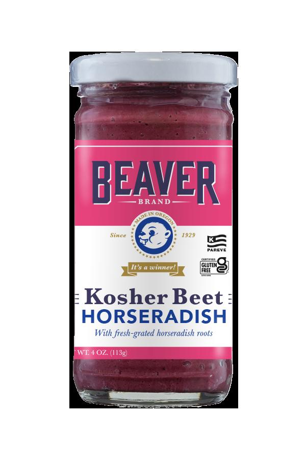 Kosher Brand Beet Horseradish front 4oz
