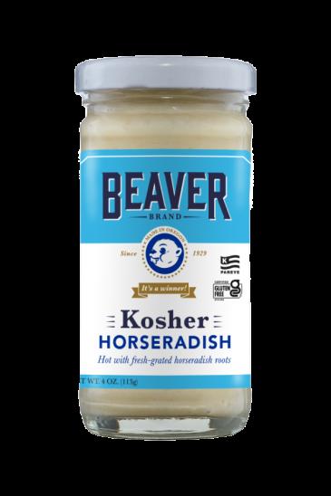 Beaver Brand Kosher Horseradish front 4oz