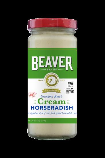 Beaver Brand Cream Horseradish front 8.25oz