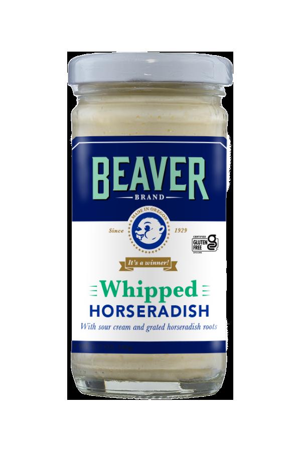 Beaver Brand Whipped Horseradish front 3.75oz