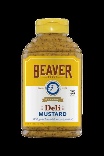 Beaver Brand Deli Mustard front 12.5oz