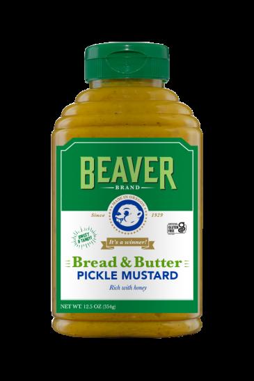 Beaver Brand Bread & Butter Pickle Mustard front 12.5oz