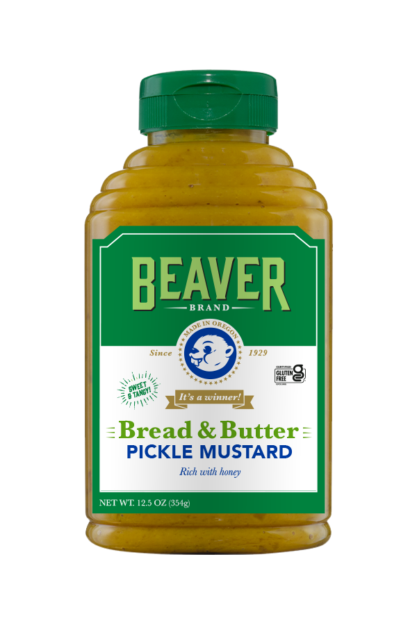 Beaver Brand Bread & Butter Pickle Mustard front 12.5oz