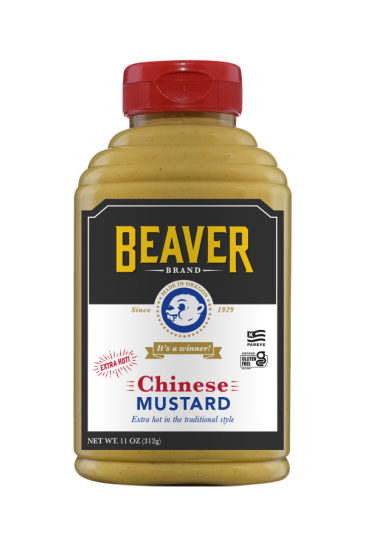 Beaver Brand Chinese Mustard front 11oz