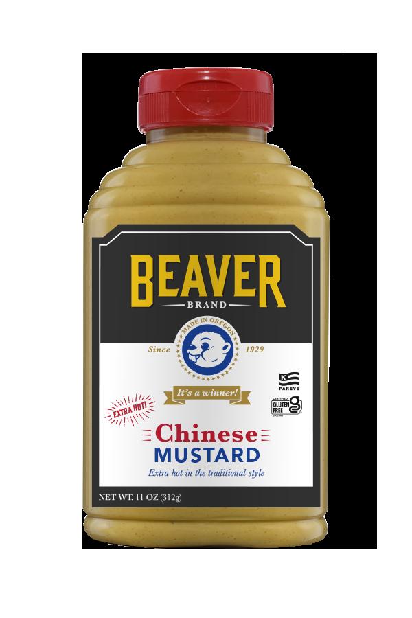 Beaver Brand Chinese Mustard front 11oz