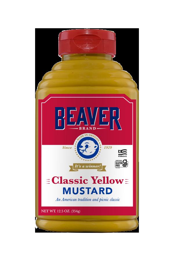 Beaver Brand Classic Yellow Mustard front 12.5oz