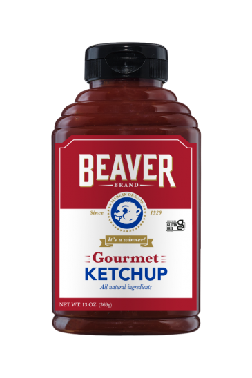 Beaver Brand Gourmet Ketchup front 13oz