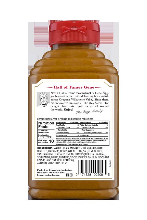 Beaver Brand Sweet Hot Mustard Back 13oz