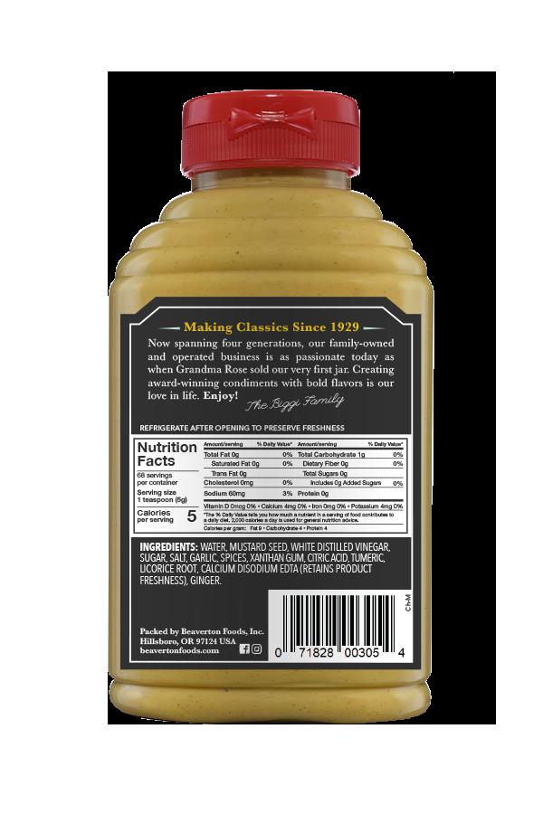 Beaver Brand Chinese Mustard back 11oz