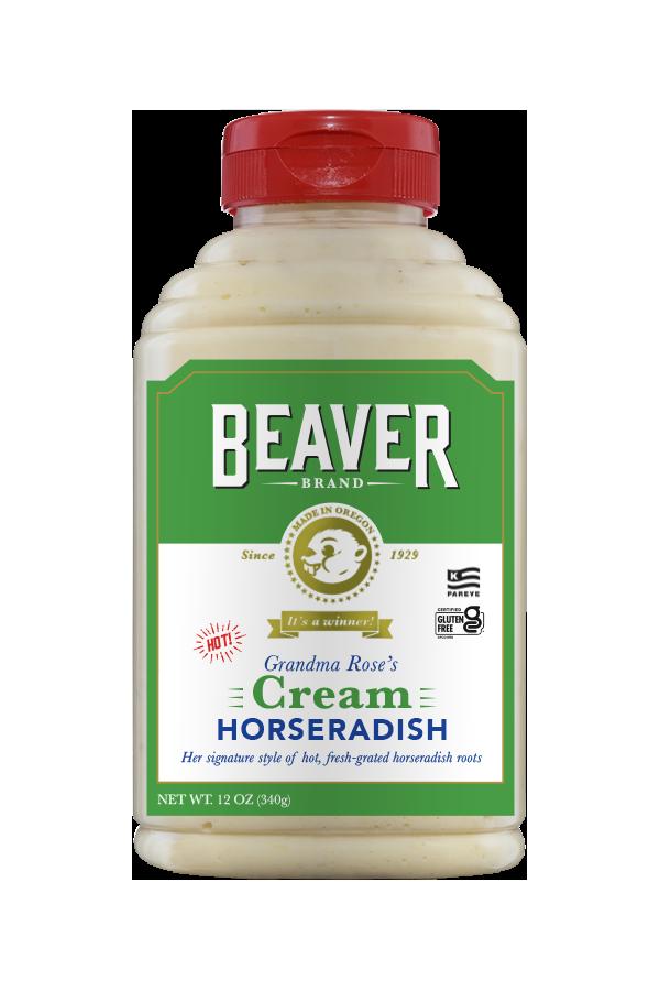 Beaver Brand Cream Horseradish front 12 oz
