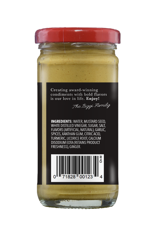 Beaver Chinese Mustard ingredients 4oz