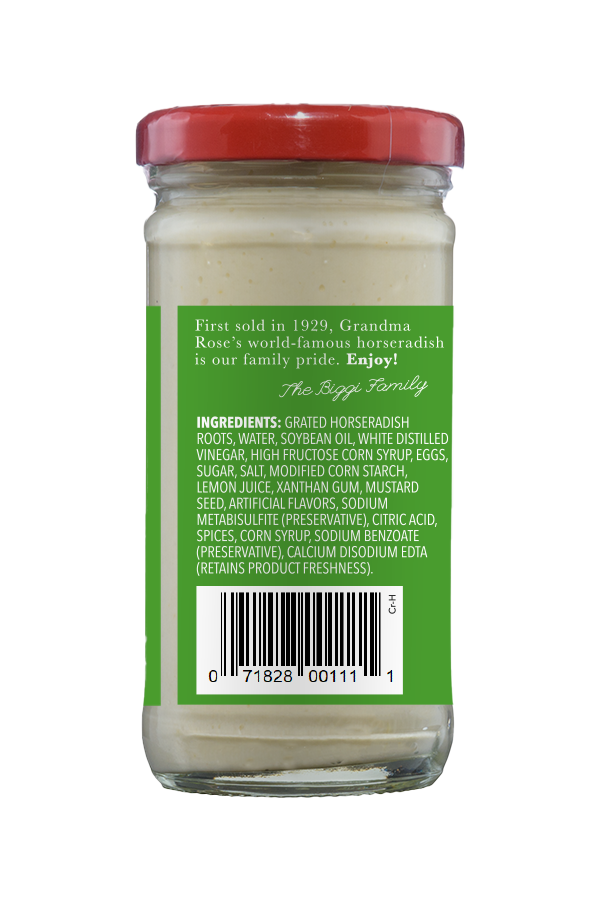 Beaver Brand Cream Horseradish ingredients 4oz