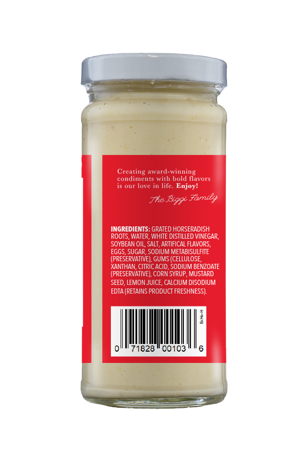 Beaver Brand Extra Hot Horseradish ingredients 8.5oz