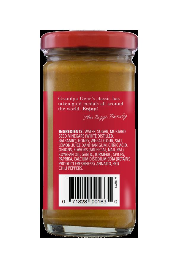 Beaver Brand Sweet Hot Mustard ingredients 4oz