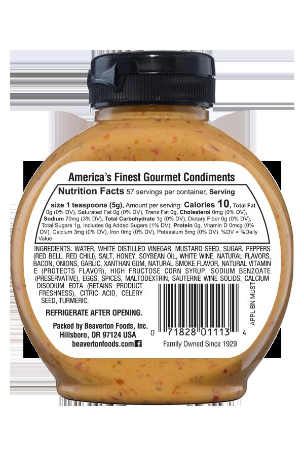 Inglehoffer Applewood Smoked Bacon Mustard back 10oz