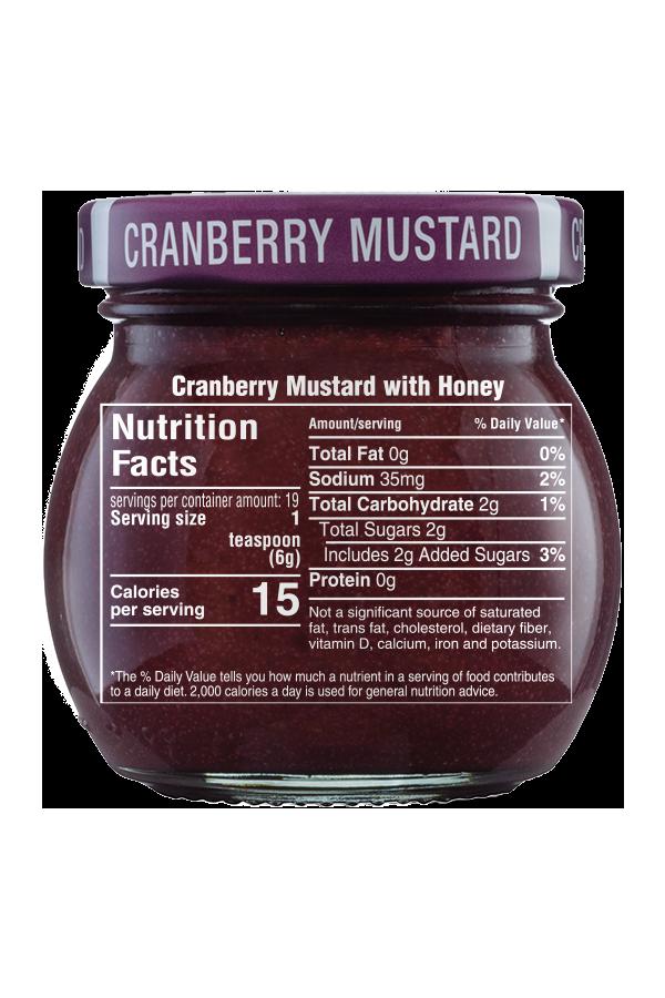 Inglehoffer Cranberry Mustard nutrition 4oz