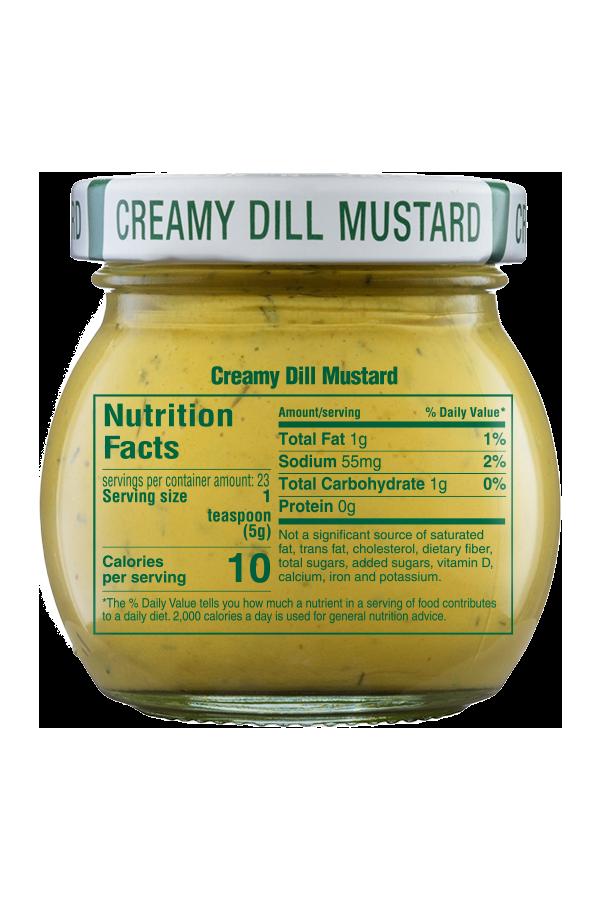 Inglehoffer Creamy Dill Mustard nutrition 4oz