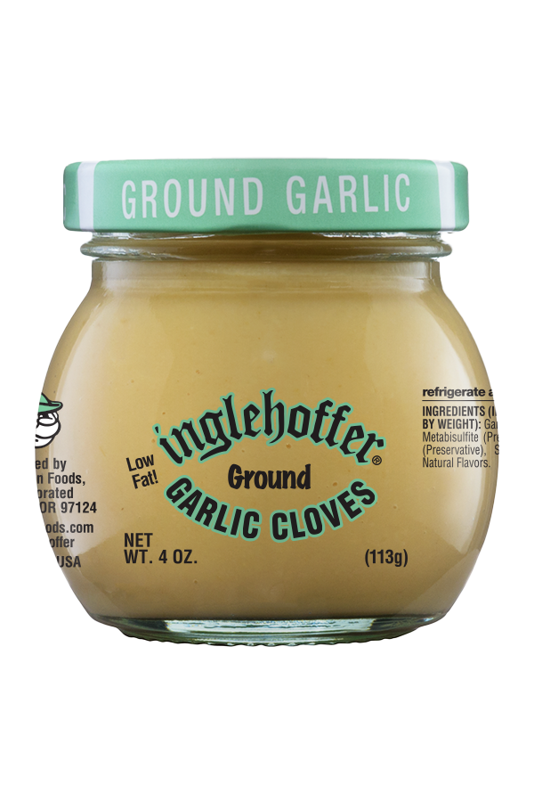Inglehoffer Ground Garlic Cloves front 4oz