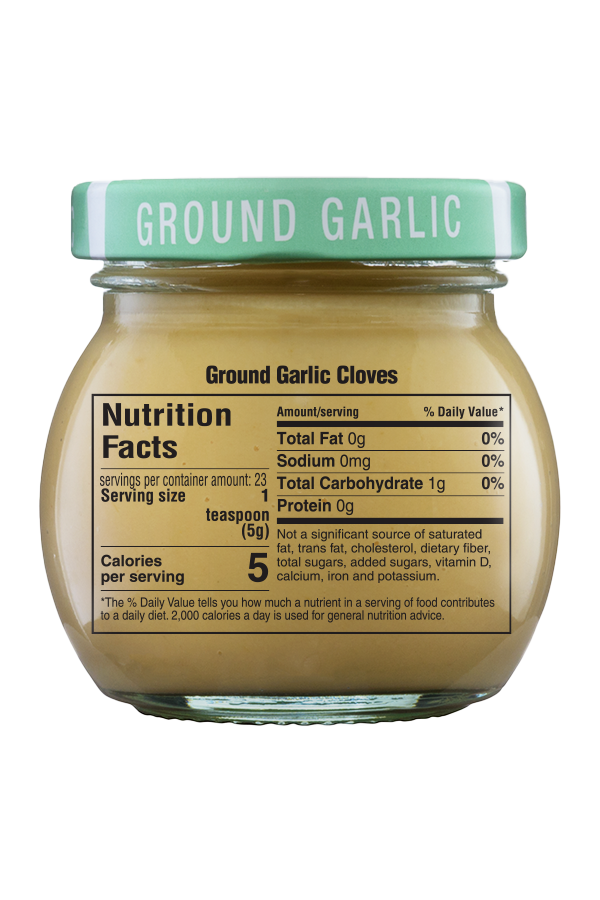 Inglehoffer Ground Garlic Cloves nutrition 4oz