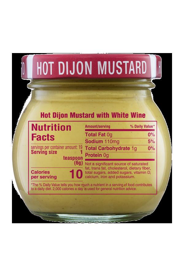 Inglehoffer Hot Dijon Mustard nutrition 4oz