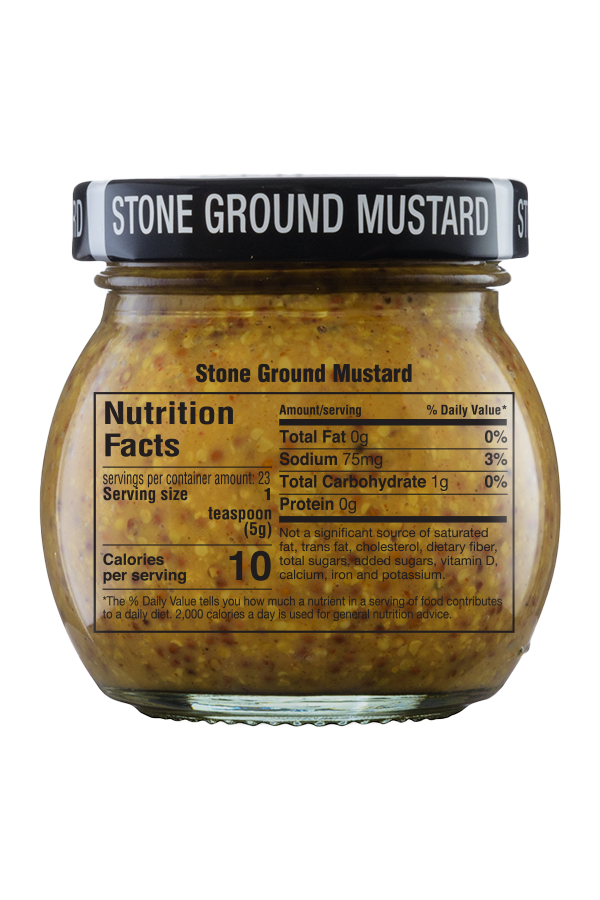 Inglehoffer Original Stone Ground Mustard nutrition 4oz