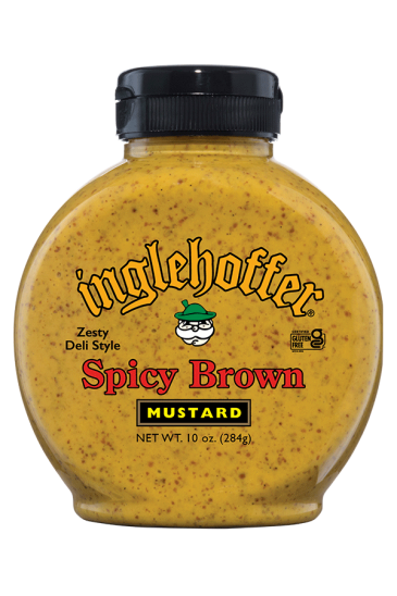 Inglehoffer Spicy Brown Mustard front 10oz