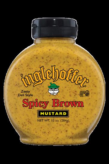Inglehoffer Spicy Brown Mustard front 10oz
