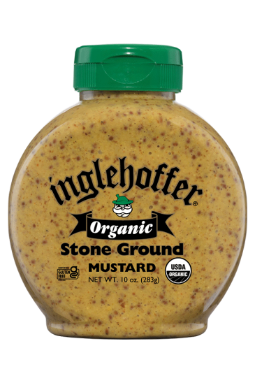 Organic Inglehoffer Stone Ground Mustard front 10oz