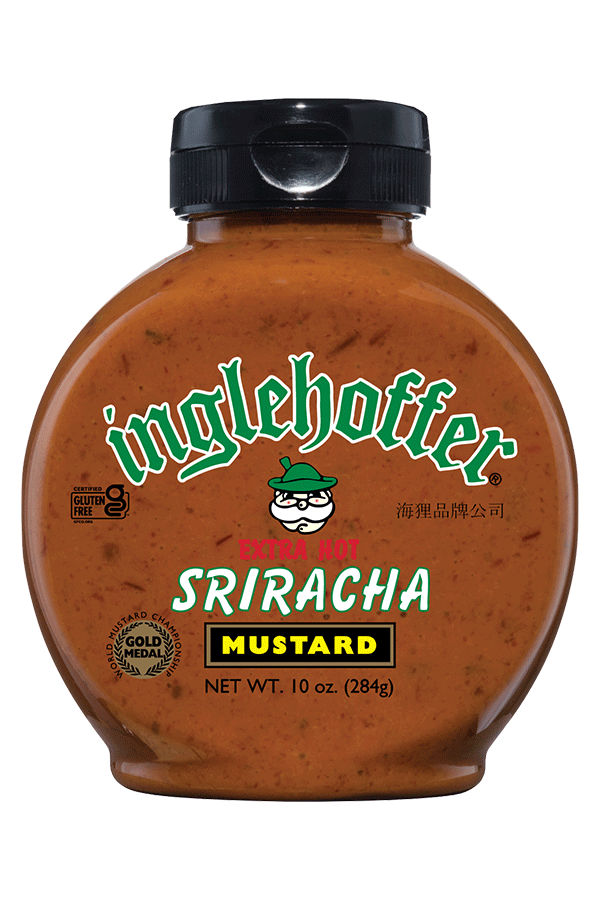 Inglehoffer Extra Hot Sriracha Mustard front 10oz