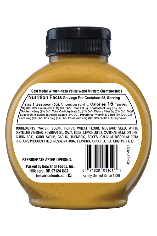 Inglehoffer Honey Mustard front 10.25oz