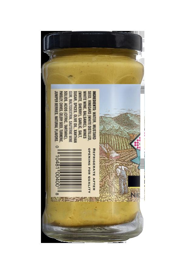 Napa Valley Dijon Mustard ingredients 8.5oz