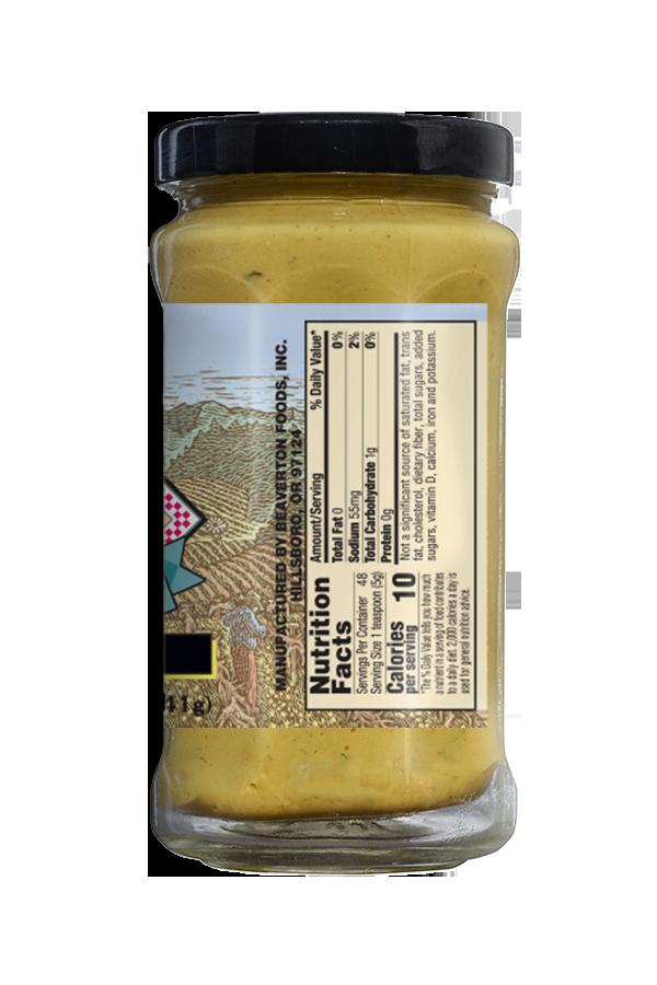 Napa Valley Dijon Mustard nutrition 8.5oz