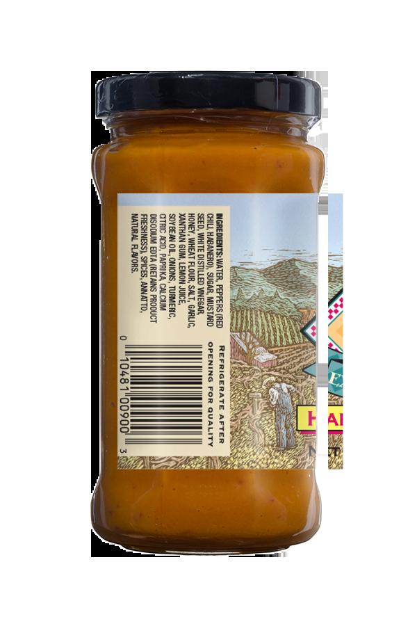 Napa Valley Habeñero Mustard ingredients 9.5oz
