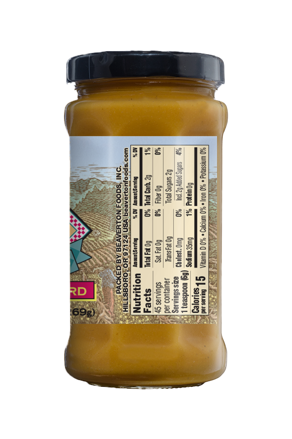 Napa Valley Hot Sweet Mustard nutrition 9.5oz