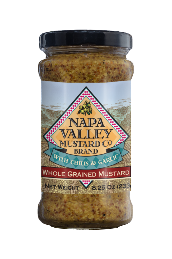 Napa Valley Whole Grained Mustard front 8.25oz