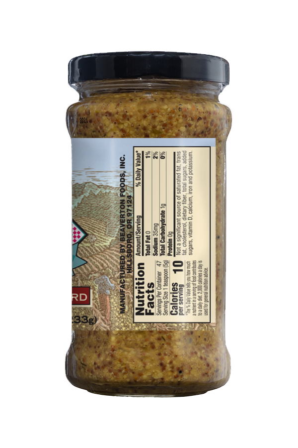 Napa Valley Whole Grained Mustard nutrition 8.25oz