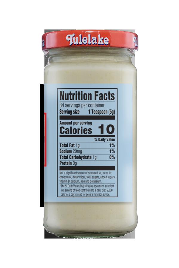 Tulelake Cream Style Horseradish nutrition 6oz