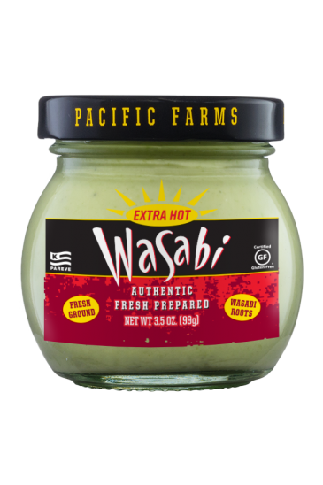 Pacific Farms Authentic Fresh Prepared Wasabi front 6oz